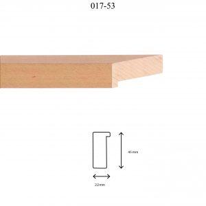 Moldura Lisa de perfil 017, en acabado HAYA NATURAL. Tamaño de la moldura 22mm x 45mm.