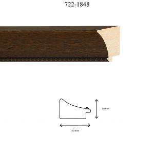 Moldura Grabada de Perfil 722, en acabado NOGAL. Tamaño de la moldura 50mm x 30mm.