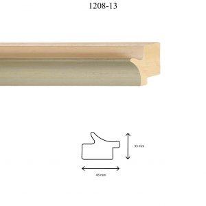 Moldura Lisa de Perfil 1208, en acabado PLATA BLANCO. Tamaño de la moldura 45mm x 33mm.