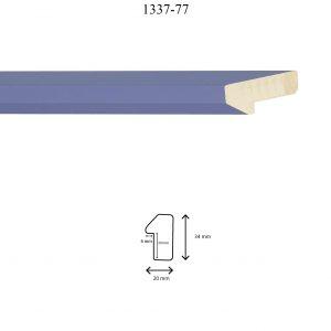 Moldura Lisa de perfil 1337, en acabado AZUL. Tamaño de la moldura 20mm x 34mm. Rebaje 20mm x 6mm.