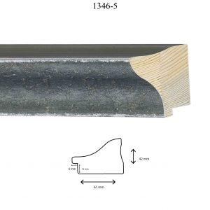 Moldura Lisa de Perfil 1346, en acabado VERDE ANTIGUO. Tamaño de la moldura 61mm x 42mm. Rebaje de 12mm x 6mm.