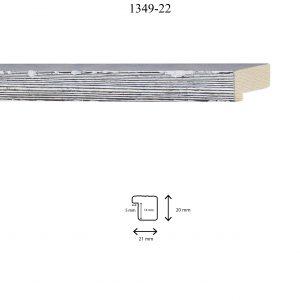 Moldura Grabada de perfil 1349, en acabado PINO LAVADO NEGRO. Tamaño de la moldura 21mm x 20mm. Rebaje 14mm x 5mm.
