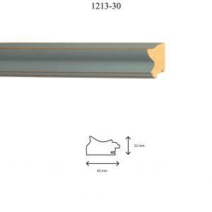 Moldura Lisa de Perfil 1213, en acabado GRIS. Tamaño de la moldura 45mm x 22mm.