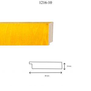 Moldura Lisa de Perfil 1216, en acabado ABEDUL AMARILLO. Tamaño de la moldura 90mm x 19mm.