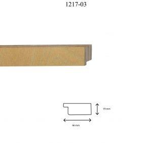 Moldura Lisa de Perfil 1217, en acabado ABEDUL NATURAL. Tamaño de la moldura 46mm x 19mm.