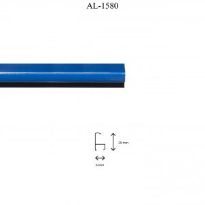 Moldura de Aluminio, en acabado AZUL. Tamaño de la moldura 20mm x 6mm.