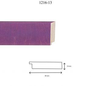 Moldura Lisa de Perfil 1216, en acabado ABEDUL VIOLETA. Tamaño de la moldura 90mm x 19mm.