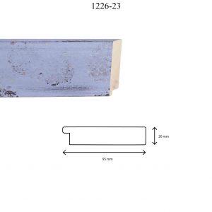 Moldura Lisa de Perfil 1226, en acabado VIOLETA. Tamaño de la moldura 95mm x 20mm.