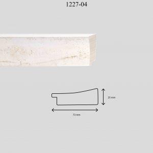 Moldura Lisa de Perfil 1227, en acabado BLANCO. Tamaño de la moldura 73mm x 25mm.