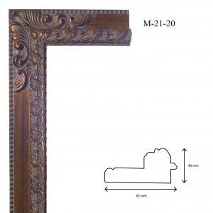 Marcos de Estilo Moldura M-21-20, en acabado ORO. Tamaño de la moldura 85mm x 40mm.