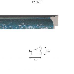 Moldura Lisa de perfil 1237, en acabado TURQUESA PLATA. Tamaño de la moldura 40mm x 27mm.