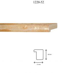 Moldura Lisa de perfil 1220, en acabado NARANJA. Tamaño de la moldura 31mm x 38mm.