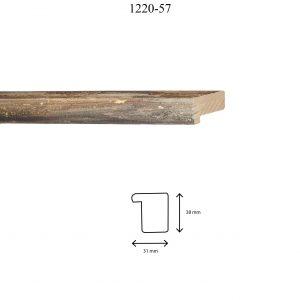 Moldura Lisa de perfil 1220, en acabado NEGRO. Tamaño de la moldura 31mm x 38mm.