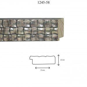 Moldura Grabada de Perfil 1245, en acabado PLATA. Tamaño de la moldura 75mm x 23mm.