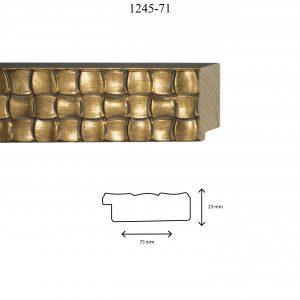 Moldura Grabada de Perfil 1245, en acabado ORO. Tamaño de la moldura 75mm x 23mm.