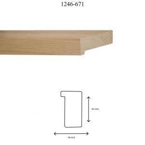 Moldura Lisa de perfil 1246, en acabado CHAPA ROBLE. Tamaño de la moldura 36mm x 63mm.