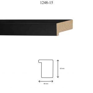 Moldura Lisa de perfil 1248, en acabado NEGRO. Tamaño de la moldura 40mm x 50mm.