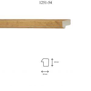 Moldura Lisa de perfil 1251, en acabado MIEL. Tamaño de la moldura 20mm x 20mm.