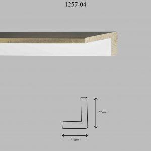 Moldura Lisa de Perfil 1257, en acabado ORO BLANCO. Tamaño de la moldura 41mm x 52mm.