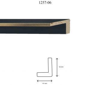 Moldura Lisa de Perfil 1257, en acabado ORO NEGRO. Tamaño de la moldura 41mm x 52mm.