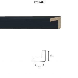 Moldura Lisa de perfil 1258, en acabado NEGRO. Tamaño de la moldura 40mm x 36mm.