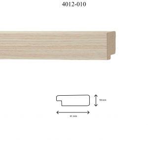 Moldura Lisa de perfil 4012, en acabado CHAPA MADERA 40*12 MM DM. Tamaño de la moldura 41mm x 18mm.