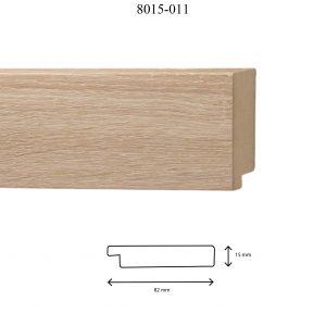 Moldura Lisa de Perfil 8015, en acabado CHAPA MADERA 80*15 MM DM. Tamaño de la moldura 82mm x 15mm.