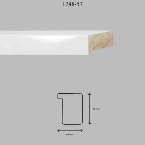Moldura Lisa de perfil 1248, en acabado BLANCO BRILLO. Tamaño de la moldura 40mm x 50mm.