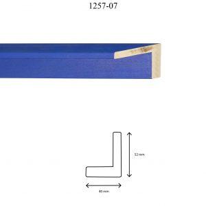 Moldura Lisa de perfil 1257, en acabado AZUL. Tamaño de la moldura 40mm x 52mm.