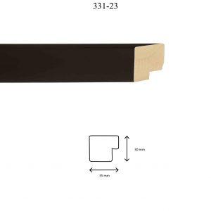 Moldura Lisa de perfil 331, en acabado NEGRO. Tamaño de la moldura 35mm x 30mm.