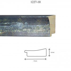 Moldura Lisa de Perfil 1227, en acabado AZUL DIFUMINADO. Tamaño de la moldura 74mm x 25mm.