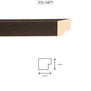 Moldura Lisa de perfil 331, en acabado WENGUE V. LIMPIOS. Tamaño de la moldura 35mm x 30mm.