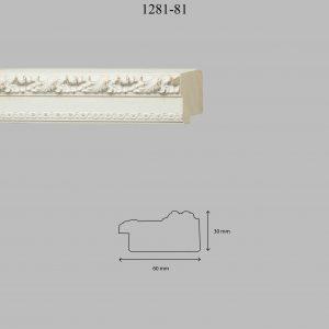 Moldura Grabada de Perfil 1281, en acabado DECAPE. Tamaño de la moldura 47mm x 24mm.