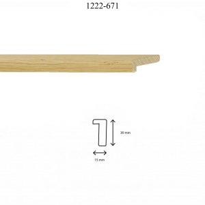 Moldura Lisa de perfil 1222, en acabado CHAPA ROBLE. Tamaño de la moldura 15mm x 30mm.