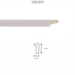 Moldura Lisa de perfil 1222, en acabado CHAPA CHERRY. Tamaño de la moldura 15mm x 30mm.