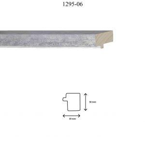Moldura Lisa de perfil 1295, en acabado PLATA MATE. Tamaño de la moldura 30mm x 30mm.