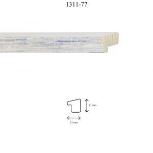 Moldura Lisa de perfil 1311, en acabado DECAPE AZUL. Tamaño de la moldura 21mm x 21mm.