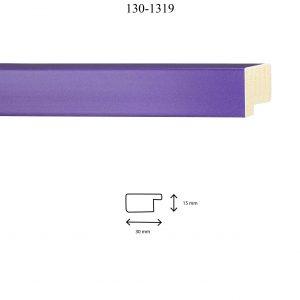 Moldura Lisa de perfil 130, en acabado VIOLETA. Tamaño de la moldura 30mm x 15mm.