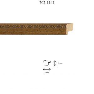 Moldura Grabada de perfil 702, en acabado ORO ENVEJECIDO. Tamaño de la moldura 20mm x 15mm.