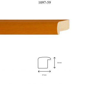 Moldura Lisa de perfil 1097, en acabado AYOUS NARANJA. Tamaño de la moldura 37mm x 33mm. OFERTA 2,20€