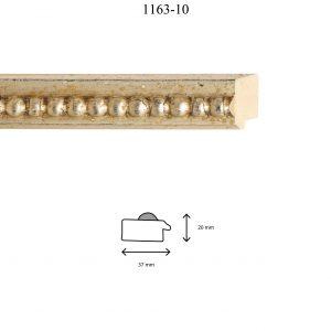 Moldura Grabada de perfil 1163, en acabado PLATA. Tamaño de la moldura 37mm x 20mm.