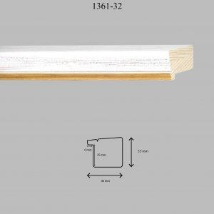 Moldura Lisa de Perfil 1361, en acabado DECAPE OCRE. Tamaño de la moldura 40mm x 35mm. Rebaje de 25mm x 6mm.