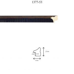 Moldura Lisa de Perfil 1377, en acabado MARRÓN BRILLO. Tamaño de la moldura 23mm x 27mm. Rebaje de 12mm x 6mm.