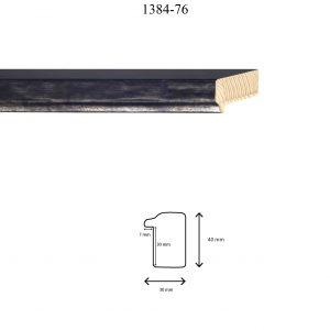 Moldura Lisa de Perfil 1384, en acabado NEGRO F. ACERO. Tamaño de la moldura 30mm x 40mm. Rebaje de 30mm x 7mm.