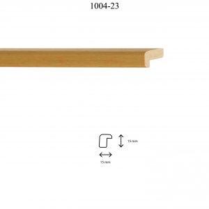 Moldura Lisa de perfil 1004, en acabado NATURAL. Tamaño de la moldura 11m x 18mm.