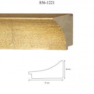Moldura Lisa de Perfil 856, en acabado ORO. Tamaño de la moldura 91mm x 48mm.