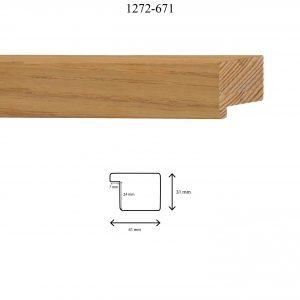 Moldura Lisa de perfil 1272, en acabado CHAPA NATURAL. Tamaño de la moldura 40mm x 30mm.