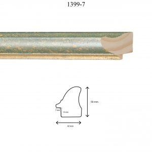 Moldura Lisa de Perfil 1399, en acabado VERDE GALAXIA. Tamaño de la moldura 42mm x 50mm. Rebaje de 14mm x 7mm.