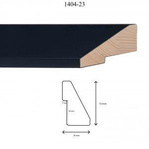 Moldura Lisa de Perfil 1404, en acabado NEGRO. Tamaño de la moldura 45mm x 72mm. Rebaje de 40mm x 7mm.